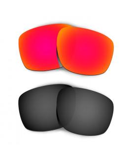 Hkuco Mens Replacement Lenses For Oakley Sliver Red/Black Sunglasses