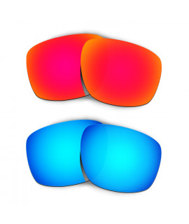 Hkuco Mens Replacement Lenses For Oakley Sliver Red/Blue Sunglasses