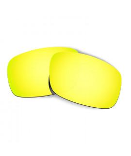 Hkuco Mens Replacement Lenses For Oakley Crankshaft Sunglasses 24K Gold Polarized