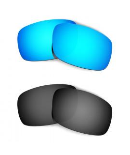 Hkuco Mens Replacement Lenses For Oakley Crankshaft Sunglasses Blue/Black Polarized