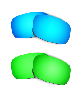 Hkuco Mens Replacement Lenses For Oakley Crankshaft Blue/Green Sunglasses