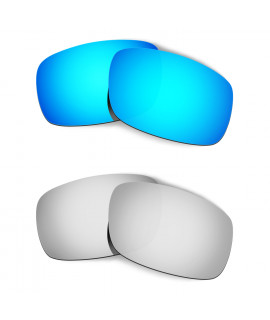 Hkuco Mens Replacement Lenses For Oakley Crankshaft Blue/Titanium Sunglasses