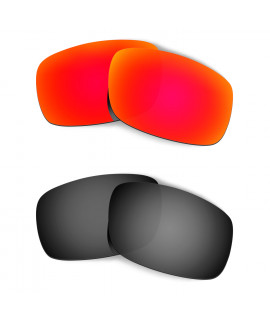 Hkuco Mens Replacement Lenses For Oakley Crankshaft Red/Black Sunglasses