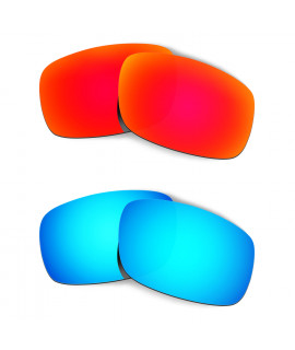 Hkuco Mens Replacement Lenses For Oakley Crankshaft Red/Blue Sunglasses