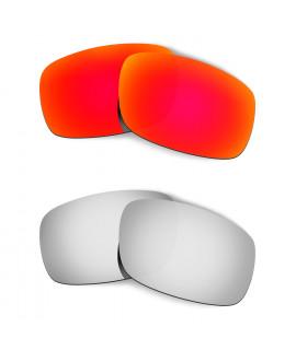 Hkuco Mens Replacement Lenses For Oakley Crankshaft Red/Titanium Sunglasses
