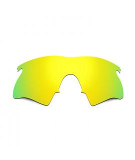 Hkuco Mens Replacement Lenses For Oakley M Frame Heater Sunglasses 24K Gold Polarized