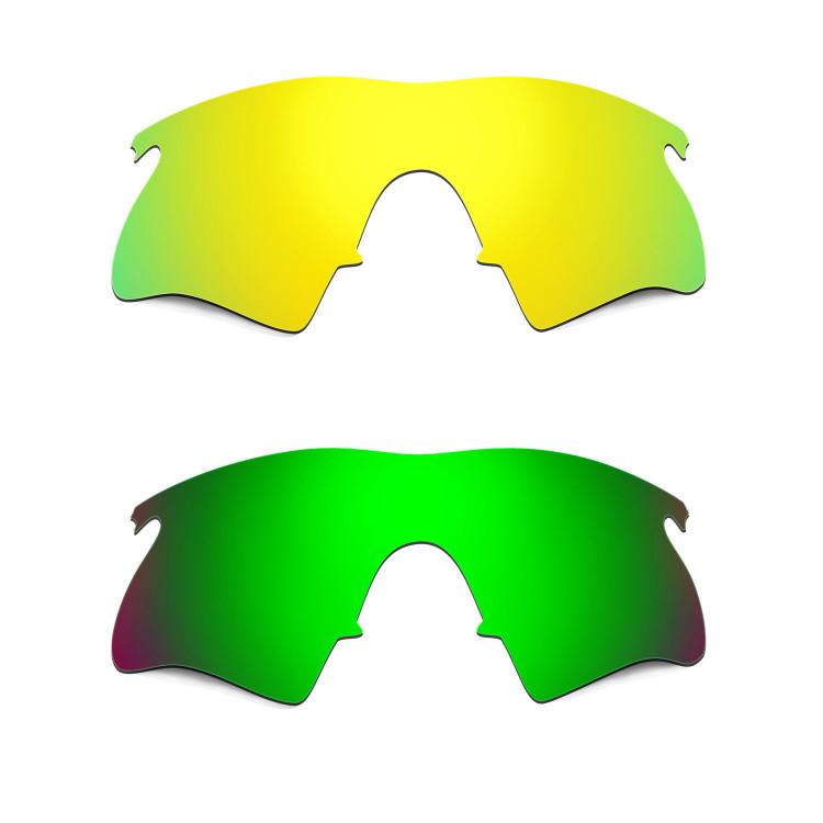 Hkuco Mens Replacement Lenses For Oakley M Frame Heater 24K Gold ...