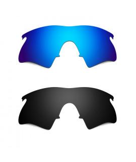 Hkuco Mens Replacement Lenses For Oakley M Frame Heater Sunglasses Blue/Black Polarized
