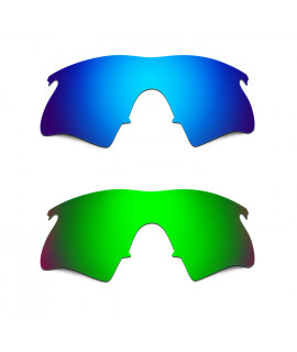 Hkuco Mens Replacement Lenses For Oakley M Frame Heater Blue/Green Sunglasses