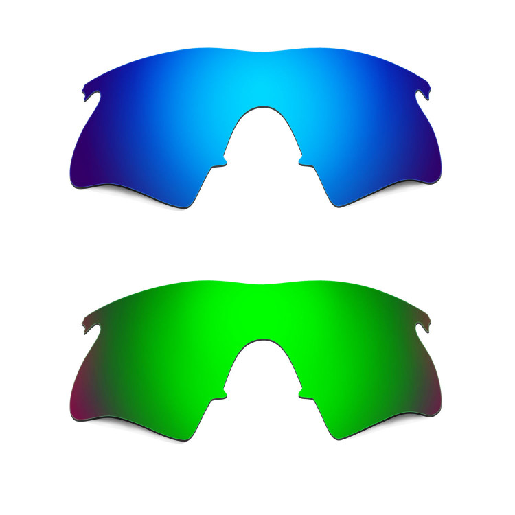 Hkuco Mens Replacement Lenses For Oakley M Frame Heater Blue/Green ...