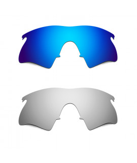 Hkuco Mens Replacement Lenses For Oakley M Frame Heater Blue/Titanium Sunglasses