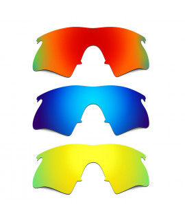 b8a58c3d06 Hkuco Mens Replacement Lenses For Oakley M Frame Heater Red Blue 24K Gold  Sunglasses