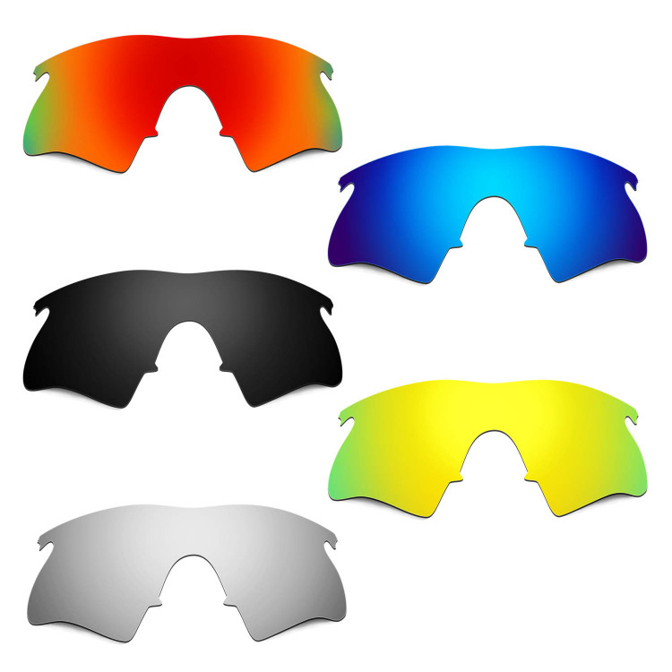 Hkuco Mens Replacement Lenses For Oakley M Frame Heater Red/Blue ...