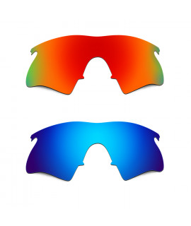 Hkuco Mens Replacement Lenses For Oakley M Frame Heater Red/Blue Sunglasses