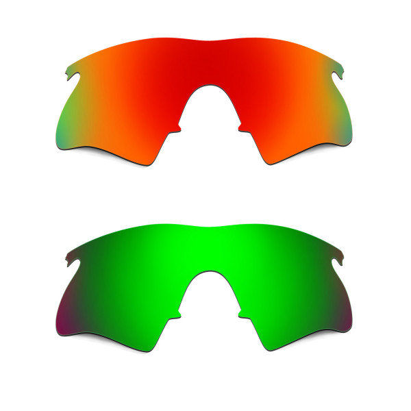 Hkuco Mens Replacement Lenses For Oakley M Frame Heater Red/Emerald ...