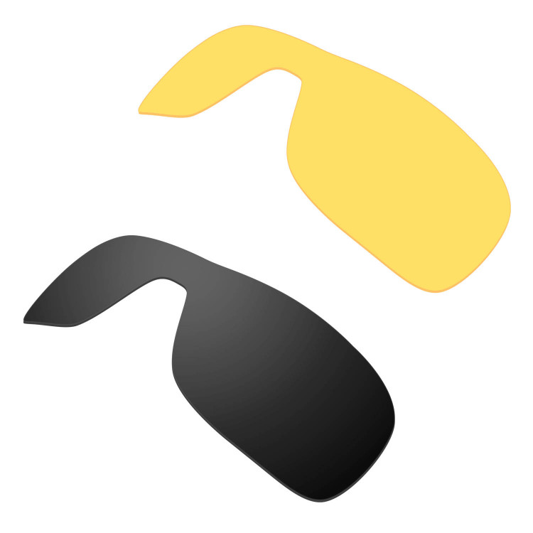 ece8b69be4 Hkuco Mens Replacement Lenses For Oakley Turbine Rotor Sunglasses  Black Transparent Yellow Polarized