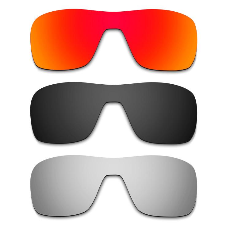 0593ebfcf6 Hkuco Mens Replacement Lenses For Oakley Turbine Rotor Blue Black Titanium  Sunglasses
