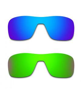 Hkuco Mens Replacement Lenses For Oakley Turbine Rotor Blue/Green Sunglasses