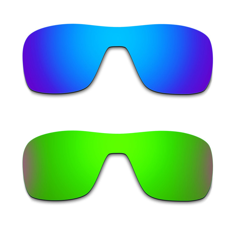 35ec366e62 Hkuco Mens Replacement Lenses For Oakley Turbine Rotor Blue Green Sunglasses