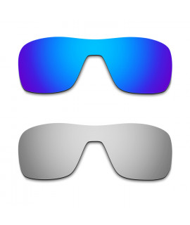Hkuco Mens Replacement Lenses For Oakley Turbine Rotor Blue/Titanium Sunglasses