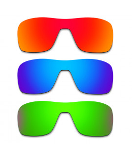 Hkuco Mens Replacement Lenses For Oakley Turbine Rotor Red/Blue/Emerald Green Sunglasses