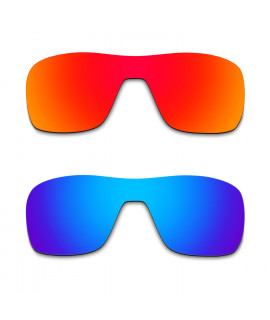 Hkuco Mens Replacement Lenses For Oakley Turbine Rotor Red/Blue Sunglasses