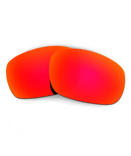 Hkuco Mens Replacement Lenses For Oakley Racing Jacket Sunglasses Red Polarized