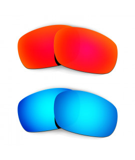 Hkuco Mens Replacement Lenses For Oakley Racing Jacket Red/Blue Sunglasses