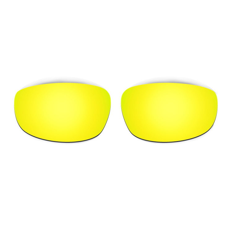 HKUCO Mens Replacement Lenses For Oakley Wind Jacket Red/Blue/Black/24K Gold Sunglasses