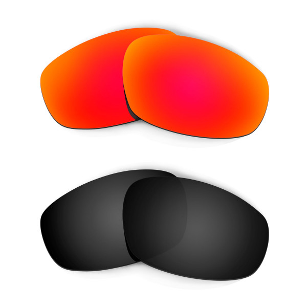 Hkuco Mens Replacement Lenses For Oakley Wind Jacket Red/Black Sunglasses