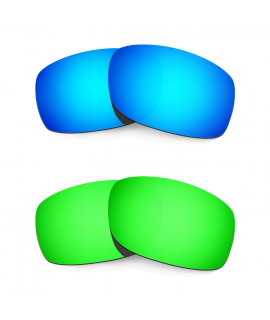 Hkuco Mens Replacement Lenses For Oakley Fives 3.0 Blue/Green Sunglasses