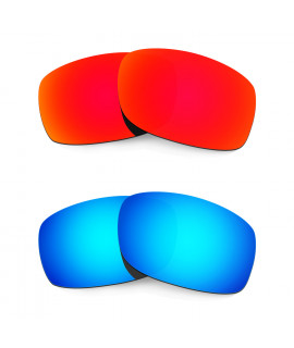 Hkuco Mens Replacement Lenses For Oakley Fives 3.0 Red/Blue Sunglasses