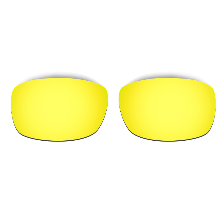 HKUCO Mens Replacement Lenses For Oakley Fives 3.0 Blue/24K Gold/Titanium Sunglasses xkJYC