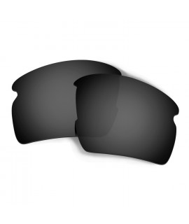 Hkuco Mens Replacement Lenses For Oakley Flak 2.0 Sunglasses Black Polarized