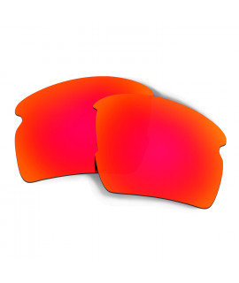 Hkuco Mens Replacement Lenses For Oakley Flak 2.0 Sunglasses Red Polarized