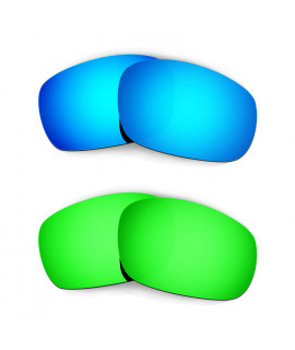 Hkuco Mens Replacement Lenses For Oakley Jawbone (Asian Fit) Blue/Green Sunglasses