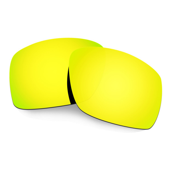 Hkuco Mens Replacement Lenses For Oakley Big Taco Sunglasses 24K Gold Polarized