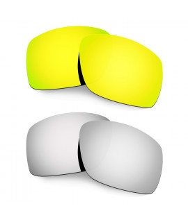 Hkuco Mens Replacement Lenses For Oakley Big Taco 24K Gold/Titanium Sunglasses