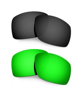 Hkuco Mens Replacement Lenses For Oakley Big Taco Black/Emerald Green Sunglasses