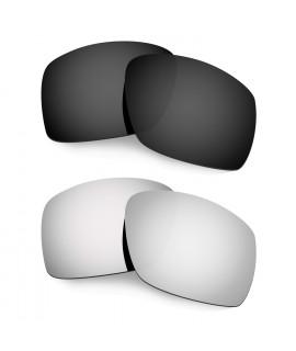 Hkuco Mens Replacement Lenses For Oakley Big Taco Black/Titanium Sunglasses