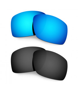 Hkuco Mens Replacement Lenses For Oakley Big Taco Sunglasses Blue/Black Polarized