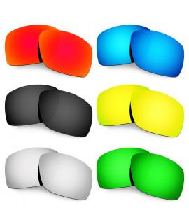 Hkuco Mens Replacement Lenses For Oakley Big Taco Red/Blue/Black/24K Gold/Titanium/Emerald Green Sunglasses
