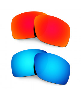 Hkuco Mens Replacement Lenses For Oakley Big Taco Red/Blue Sunglasses