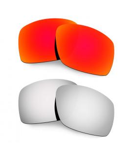 Hkuco Mens Replacement Lenses For Oakley Big Taco Red/Titanium Sunglasses