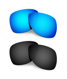 Hkuco Mens Replacement Lenses For Oakley Dispatch 2 Sunglasses Blue/Black Polarized