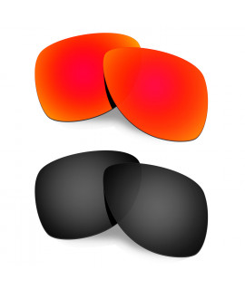 Hkuco Mens Replacement Lenses For Oakley Dispatch 2 Red/Black Sunglasses
