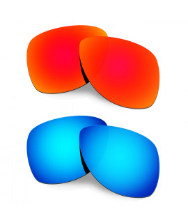 Hkuco Mens Replacement Lenses For Oakley Dispatch 2 Red/Blue Sunglasses