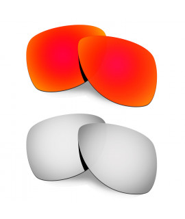Hkuco Mens Replacement Lenses For Oakley Dispatch 2 Red/Titanium Sunglasses