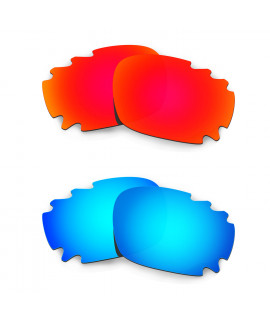 Hkuco Mens Replacement Lenses For Oakley Jawbone (Asian Fit) Vented Red/Blue Sunglasses