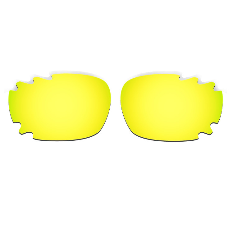 HKUCO Mens Replacement Lenses For Oakley Racing Jacket (Asian Fit) Vented Red/Blue/24K Gold Sunglasses 3DLhu5
